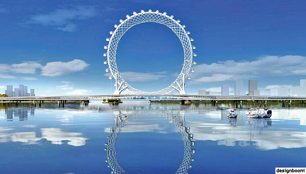 The world's largest spokeless ferris wheel opens in shandong, china