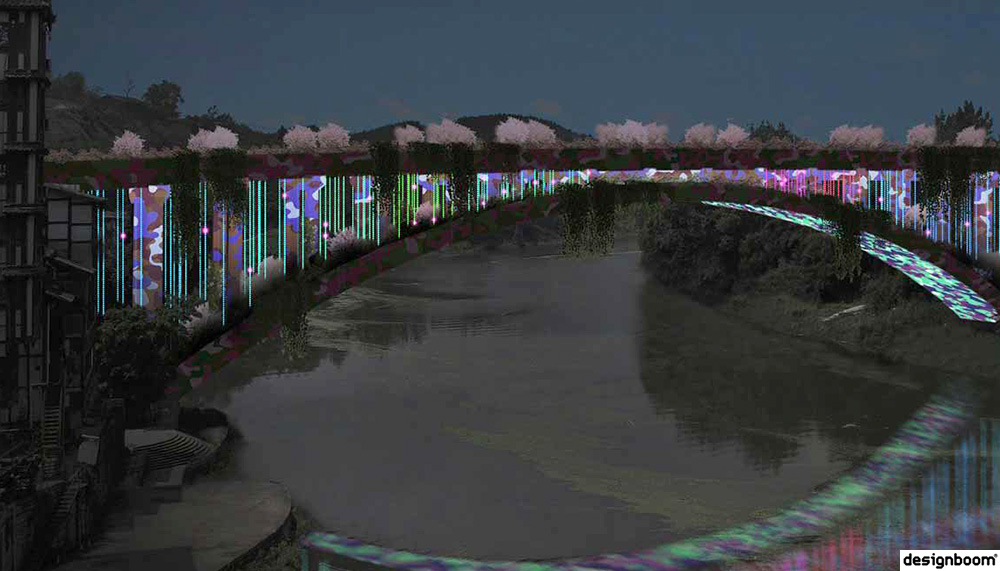 Brut Deluxe uses thousands of LEDs to convert chinese bridge into a landscape light installation