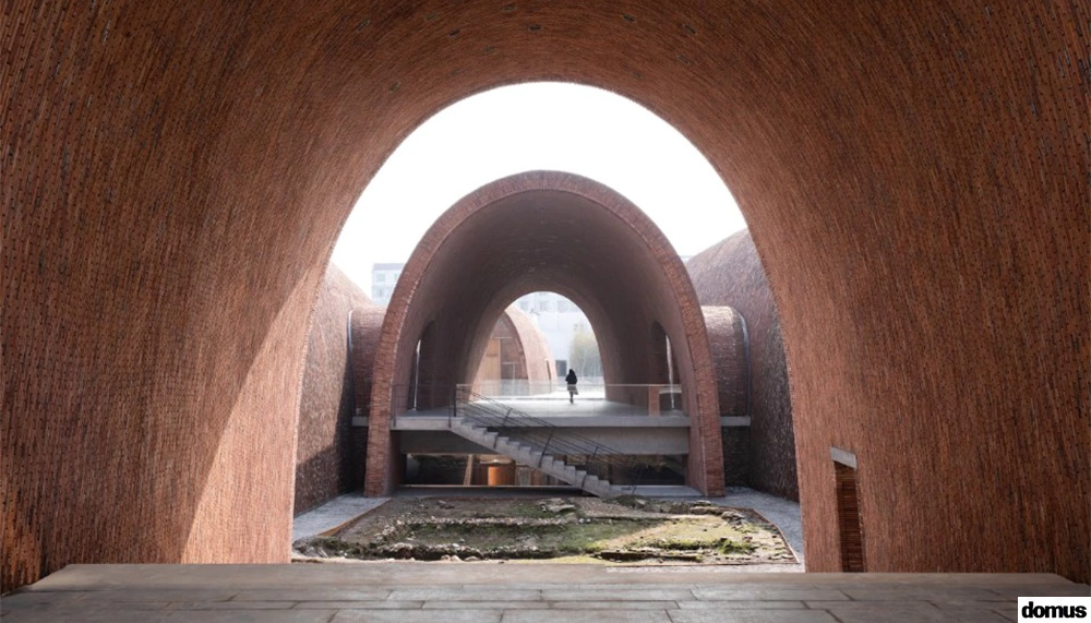 China. The impressive brick vaults of the porcelain museum in Jingdezhen